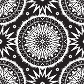 Black and white mandala pattern