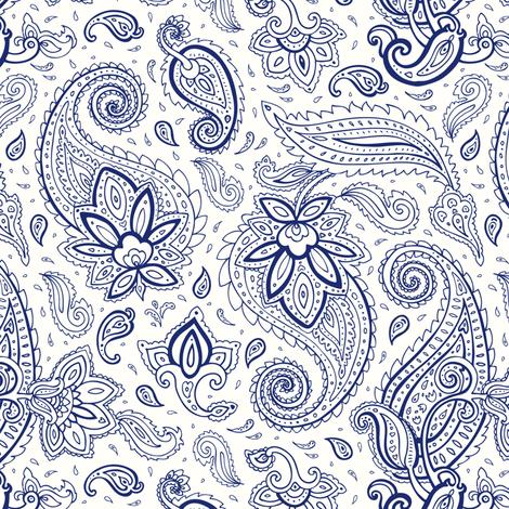 Paisley  fabric by katyau on Spoonflower - custom fabric
