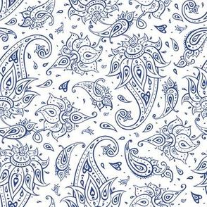 Paisley indigo blue
