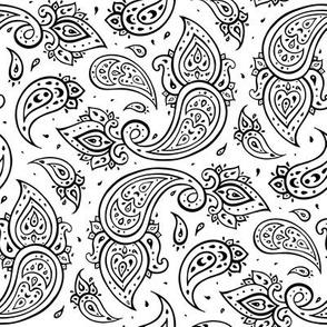Paisley black & white