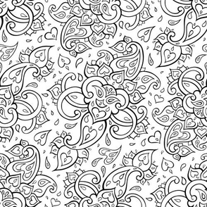Paisley, Black and white