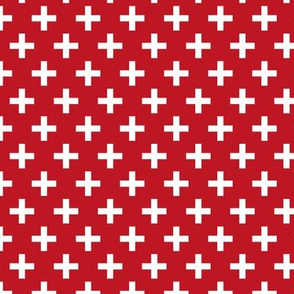 Crosses | Criss Cross | Plus Sign | X | Red and White