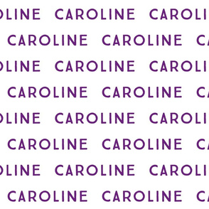 caroline // purple block print