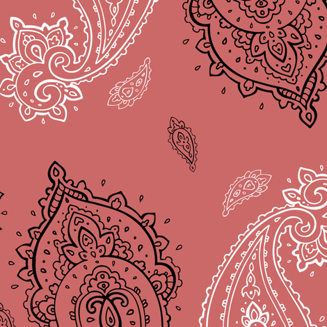 Vintage Paisley pink fabric by katyau on Spoonflower - custom fabric
