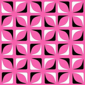 Dancing Pink Geometric Modernist Pattern