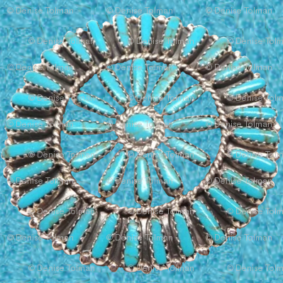 Native American Circles on Turquoise