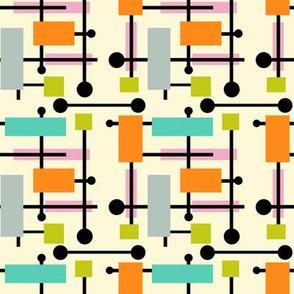 Midcentury Modern Geometric Symphony