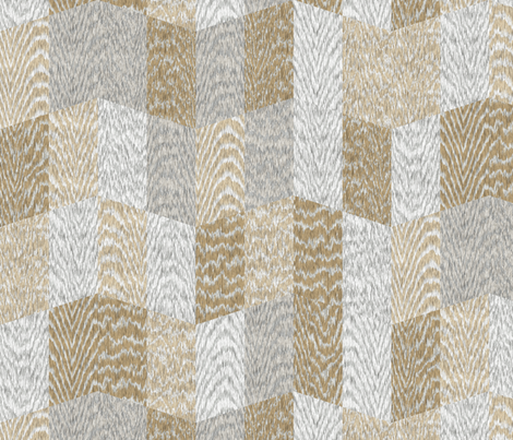 Cerused Wood Chevron Large White Mix fabric by wickedrefined on Spoonflower - custom fabric