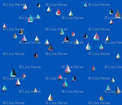 Sail Boats bright blue