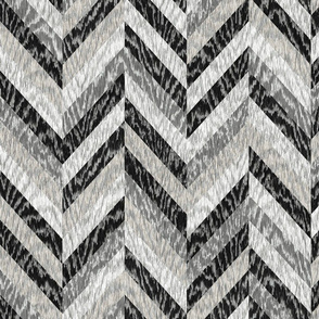Cerused Wood Chevron Black Grey