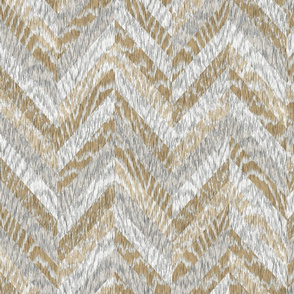 Cerused Wood Chevron White Mix