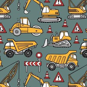 Construction cars - khaki