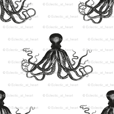 Vintage Octopus | Black and White