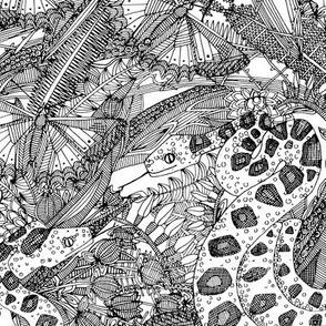 entangled forest black white
