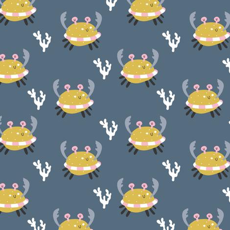 funny_crab(small) fabric by yuliia_studzinska on Spoonflower - custom fabric