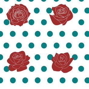 Roses and polka dots