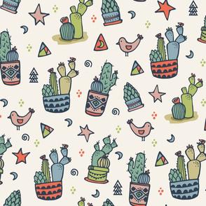 Cactus & Birds