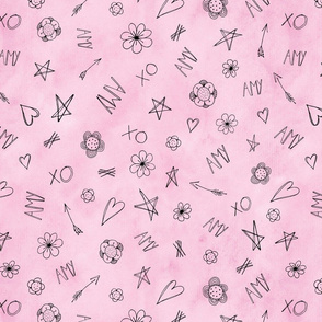 AMY Hearts and Stars pattern