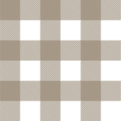 PLAID IN PUTTY GRAY
