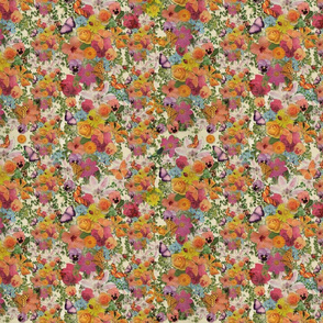 Life of Flowers - floral multicolor pattern