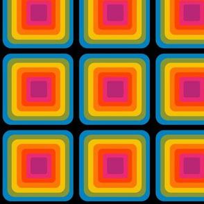 Bright And Bold Rainbow Geometric Design