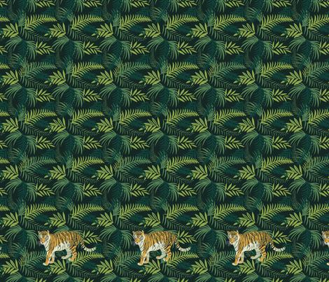 Amur tiger 2 fabric by olgart on Spoonflower - custom fabric