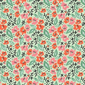 Tilly Flower Field Mint