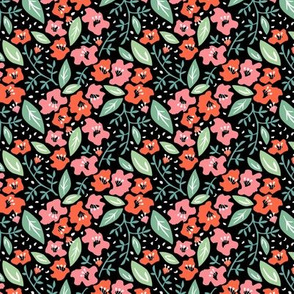 Tilly Flower Field Black