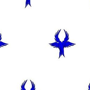 Argent, seraph's wings azure