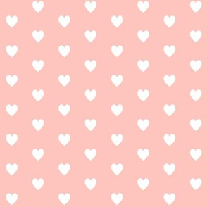 Tiny White Hearts (light peach) – Baby Girl Nursery