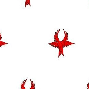 Argent, seraph's wings gules.