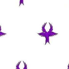 Argent, seraph's wings purpure