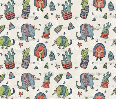 Armadillos & Cactus (small)