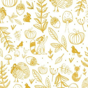 Autumnal - Mustard Yellow