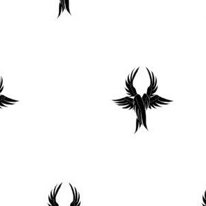 Argent, seraph's wings sable