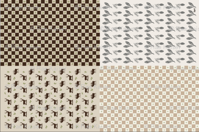 Wilderness Dish Towels in Brown