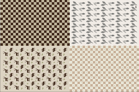 Wilderness Dish Towels in Brown fabric by outside_the_line on Spoonflower - custom fabric