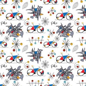 Mondrian bicycle atomic circles