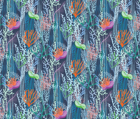 CORALIA fabric by lucyconway on Spoonflower - custom fabric
