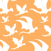 Magic Dragon Family -White-Orange