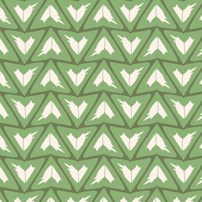 Triangular Leaves Geometric / Green