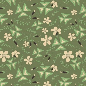 Shamrock Floral Ditsy / Olive