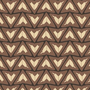 Triangular Leaves Geometric / Brown