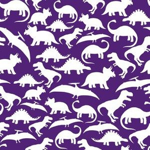 White Dinos on Purple