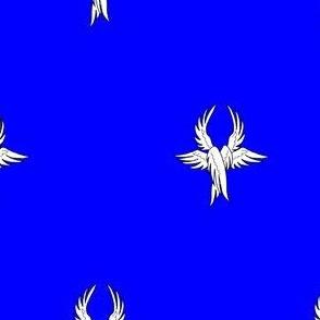 Azure, seraph's wings argent