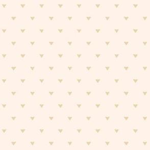 Triangular Leaves Polka / Cream