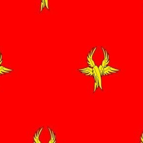Gules, seraph's wings Or