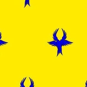 Or, seraph's wings azure