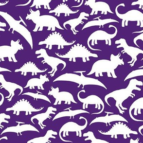 White Dinos on Purple big