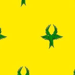 Or, seraph's wings vert